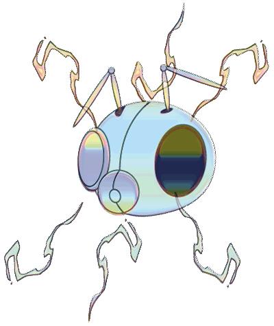 Irridescent cyber bee illustration
