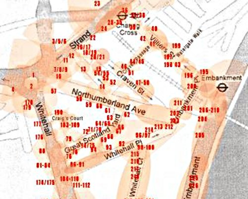 CCTV is part of the reassurance, of the spectacle of security theatre. (Map of Embankment)