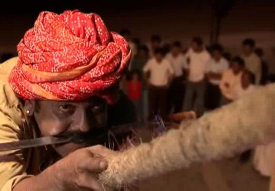 Abhilash V, India. Doing the rope trick