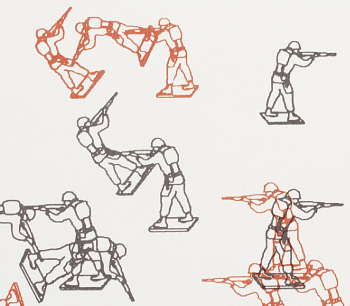 Csuri's lithograph of randomly placed vector outlines of toy soldiers was produced in 1967 during the Vietnam War, a war that ran as long as it did in no small part due to game theory and computer simulation.