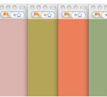 """Color Field Painting (""""Where,"""" after Morris Louis), Browser Windows by Michael Demers (2009)"""