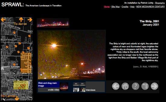 Image: Web Interface of Sprawl