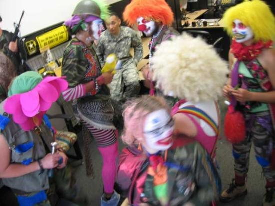 The Clandestine Insurgent Rebel Clown Army at the military recruitment center in Oakland, 2006