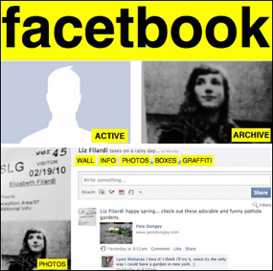 There is an archive of all your revisions. I started to image Facebook having a similar structure