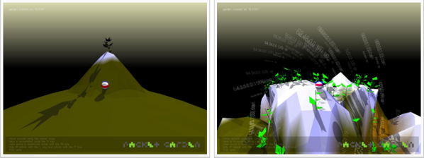 Screenshots from Packet Garden by Julian Oliver (2006)