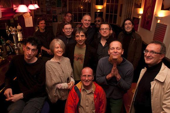 Sheffield's musical gathering. Including members of Pulp, Warp Records, Chakk, Longpigs...