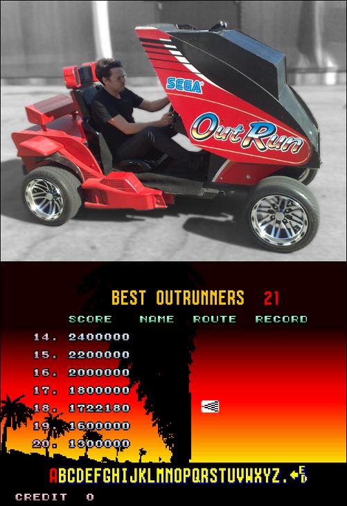 OutRun - Garnet Hertz. Images/video: http://www.conceptlab.com/outrun