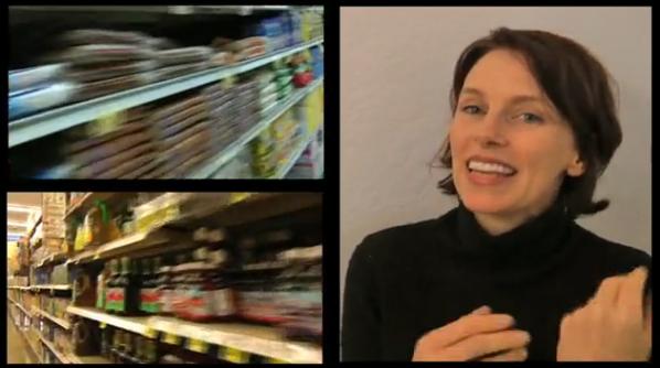 """Food Remix"" is interdisciplinary performance artist Michelle Ellsworth's remix                                          of Mark Amerika's remixthebook. Video - http://vimeo.com/27221493"