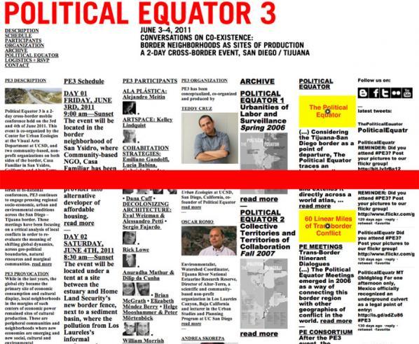 Political Equator 3 website