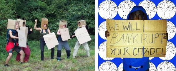 Image by Laboratory of Insurrectionary Imagination (left) and Rachel Baker (right).