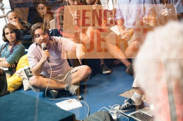 Rodrigo Savazoni (Casa de Cultura Digital) at Encontro de Redes