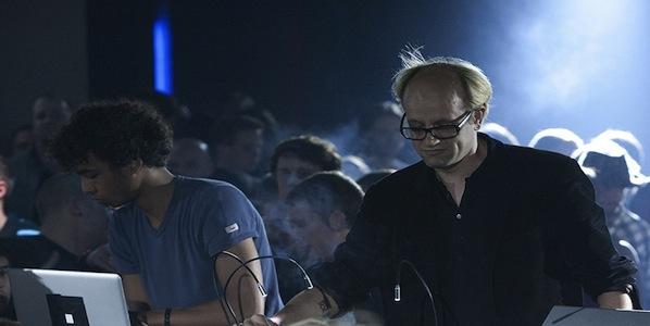 Tarik Barri (left) and Robert Henke (right) live