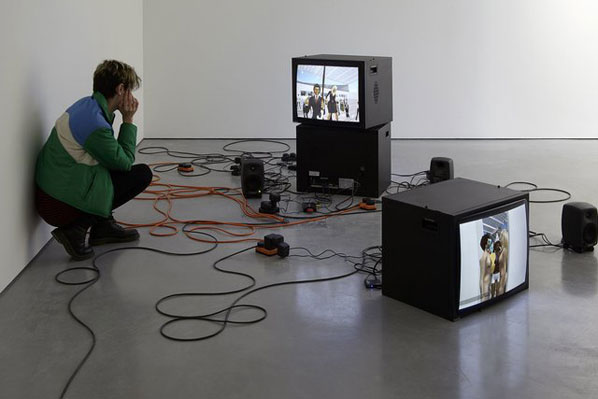 Reenactments, Eva and Franco Mattes, 2007-2010 (installation view)