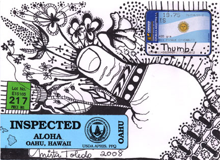 Mail Art by Mirta Toledo of Argentina & the U.S.A.