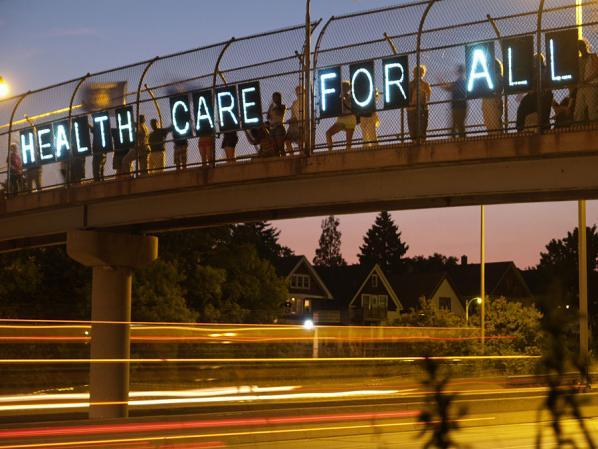 health care for all - the Overpass Light Brigade