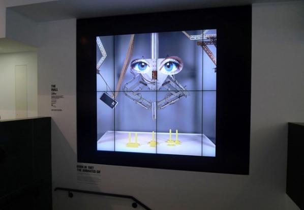 The London Photographers' Gallery's new digital wall.