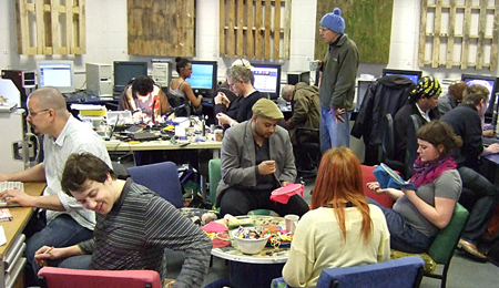 Access Space is the longest running free internet learning centre in the UK. The centre brings together old computers and new open source software to create a radical, sustainable response to industrial decline and social dislocation.