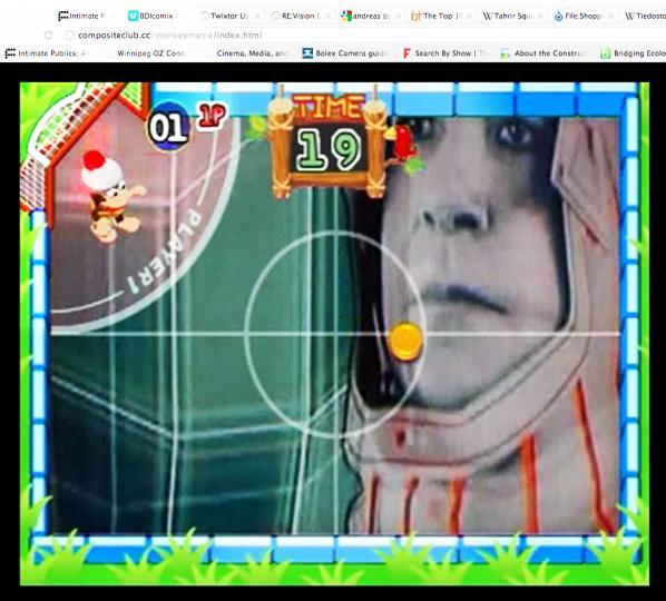Monkeymania, by JODI (screenshot from:  http://compositeclub.cc/monkeymania/index.html)