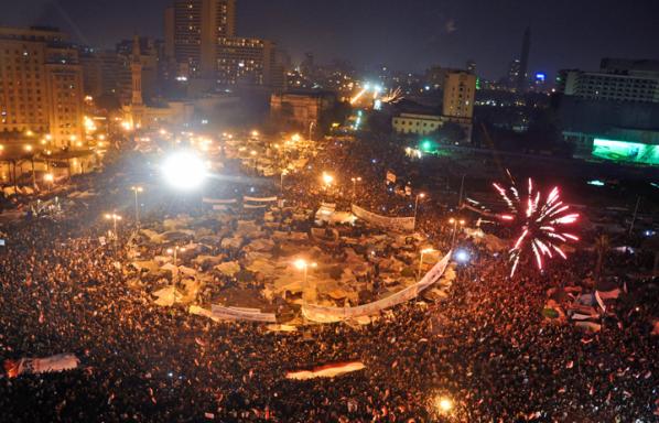 Tahrir Square on February 11, by Jonathan Rashad (CC-BY-2.0, 2011).