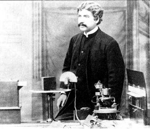 J.C. Bose at the Royal Institution, London, 1897.[3]