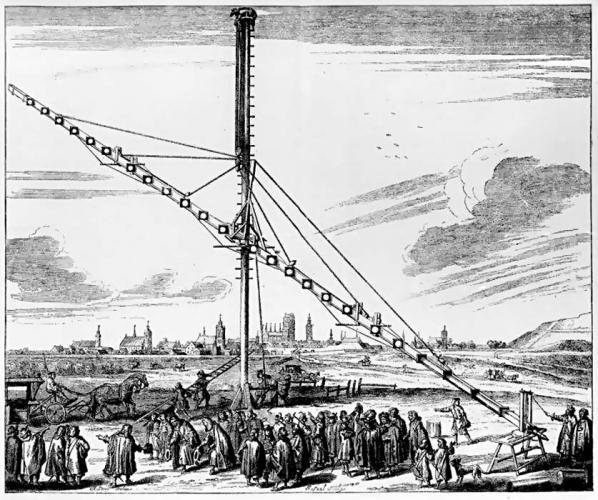 46m telescope, Johann Hevelius (1673)