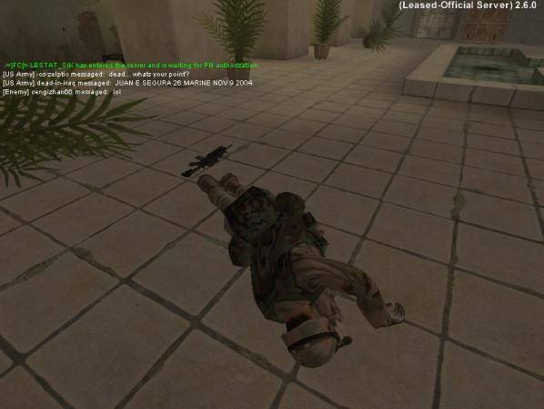 """Joseph DeLappe, """"dead...whats your point?"""" dead-in-iraq screenshot 2006-2011."""
