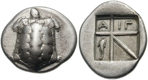 greek drachma, 600BC