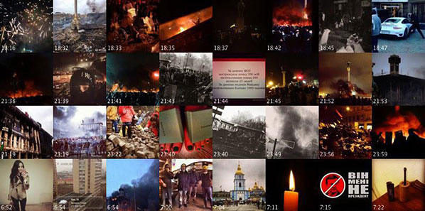 144 Hours in Kiev: a selection of images shared during the protests, arranged by time
