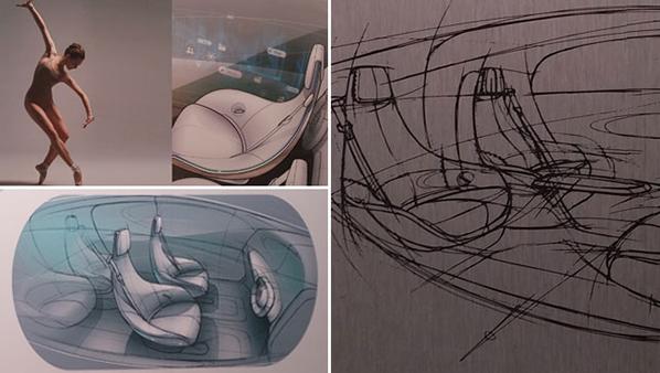 Artist impressions of the Mercedes-Benz F 015 interior.