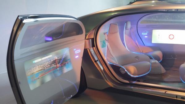 Interior view of the Mercedes-Benz F 015. Photo courtesy of Natalie Kane.