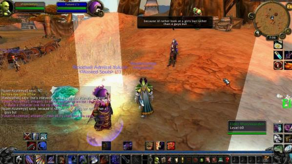 "Angela Washko, ""The Council on Gender Sensitivity and Behavioral Awareness in World of Warcraft"", 2013, Screenshot"