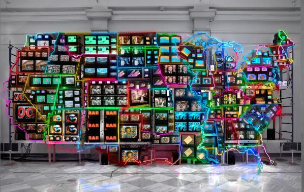 Electronic Superhighway (1995) by Nam June Paik. Source - http://s.si.edu/1PuXfwI