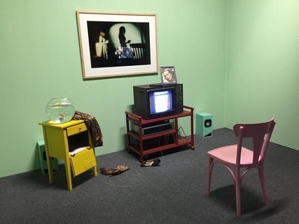 "Lynn Hershman Leeson, Installation View from ""Lorna"" 1979–1982."