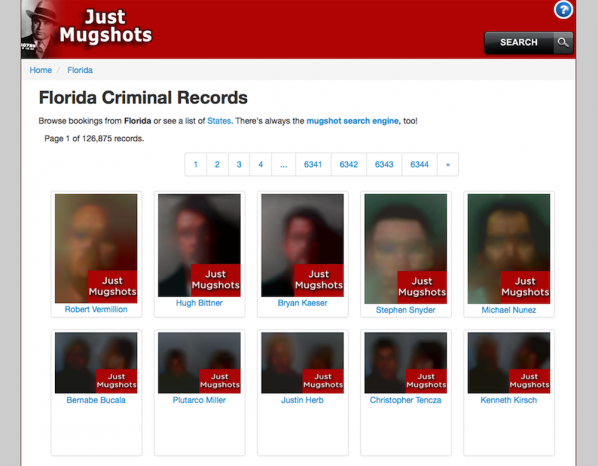 Obscurity cloned mugshote website