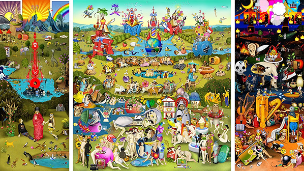 Carla Gannis, The Garden of Emoji Delights, 2014