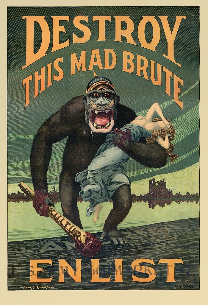 """Destroy this Mad Brute—Enlist"" (ca. 1917), Harry R. Hopps"