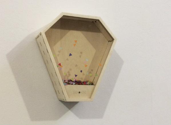 Saskia Freeke, 'Confetti Machine', 2017, interactive installation. Photo credit: Howard Melnyczuk