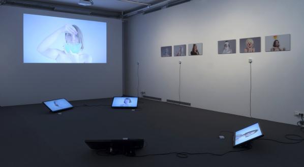"Iza Pavlina, ""Rule 34"", exhibition view, 2017"