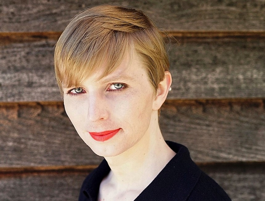 Chelsea Manning's first portrait photo after her release, 18th of May 2017 by Tim Travers Hawkins