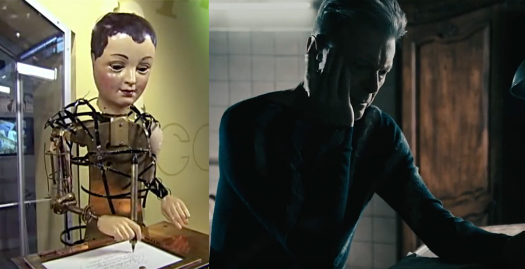 Comparing Maillardet's automaton at The Franklin Institute (1810) with David Bowie's automaton in the music video for Lazarus (2016)