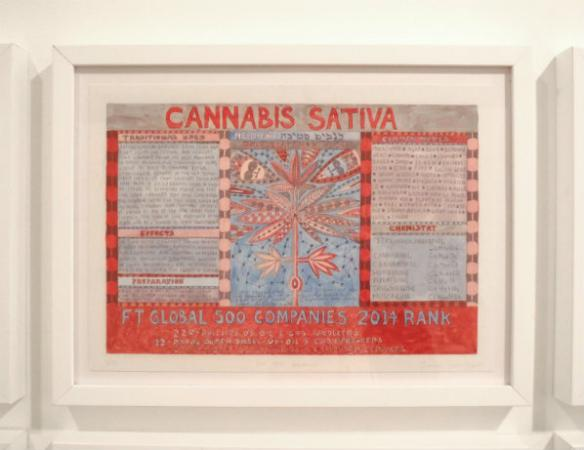 Outsider Artworks detail, Cannabis sativa (Marajuana) - Susan Treister. Image by Garrett Lynch