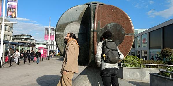 Node guardians meeting Charlie Hooker's often forgotten digital sound sculptures in Brighton's Churchill Square