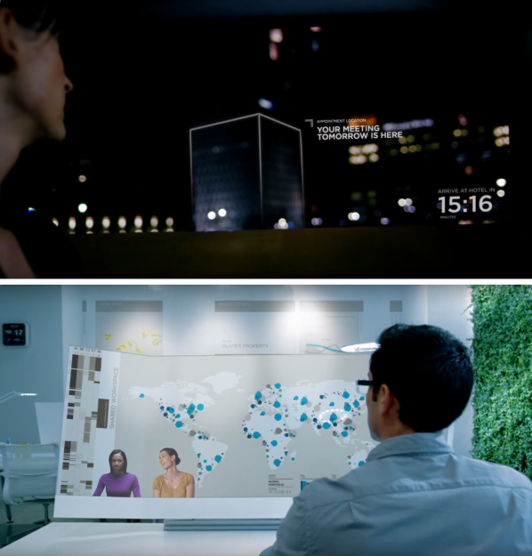Stills from Microsoft's Productivity Future Vision from 2011.