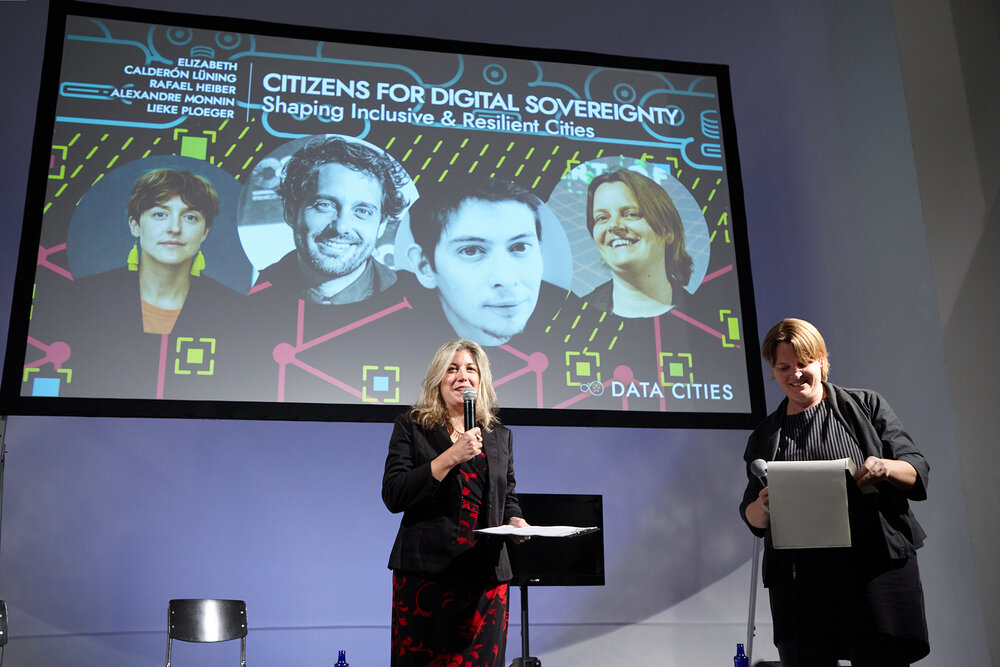 Tatiana Bazzichelli (left), Founder and Programme Director of the Disruption Network Lab and Lieke Ploeger, Community Director of the Disruption Network Lab