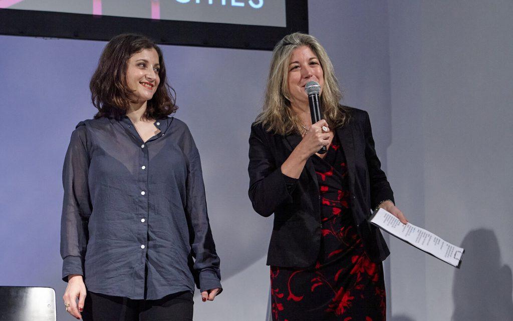 "Lucia Conti, Editor in Chief ""Il Mitte"" (left), and Tatiana Bazzichelli, Founder and Programme Director of the Disruption Network Lab"