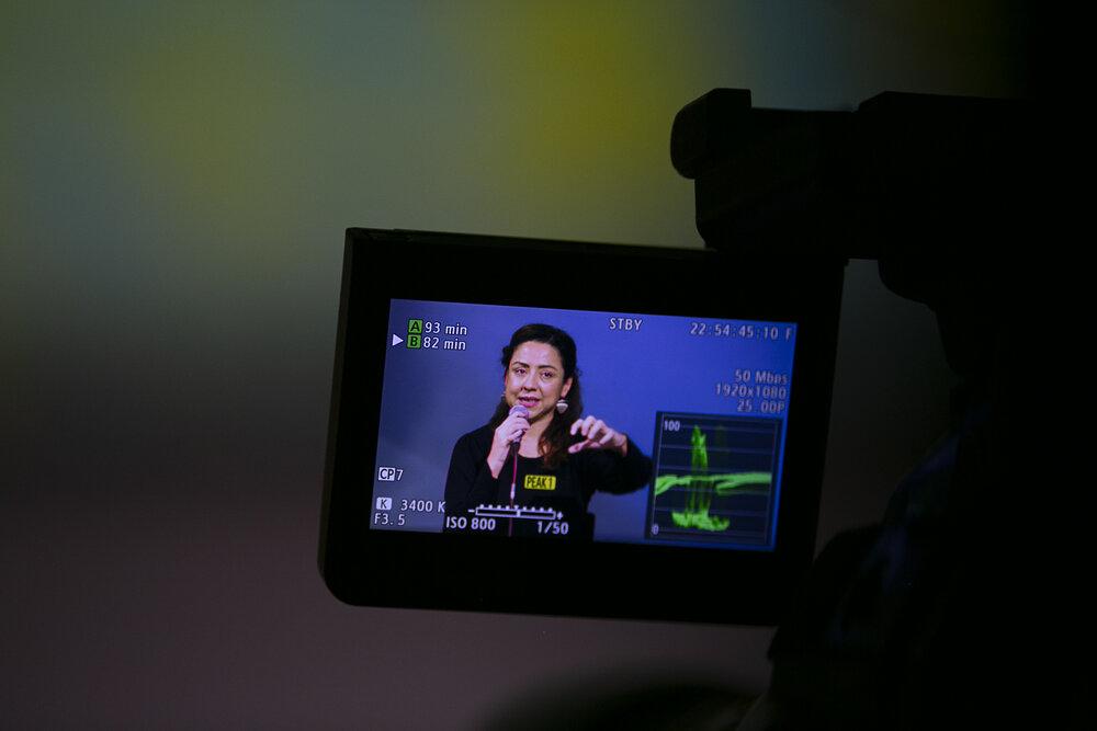 Renata Avila during her intervention