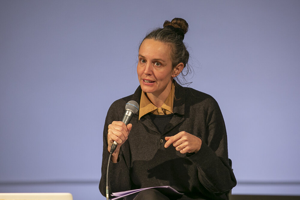 """Nicole Vögele during the panel """"Illegal Pushbacks and Border Violence"""""""