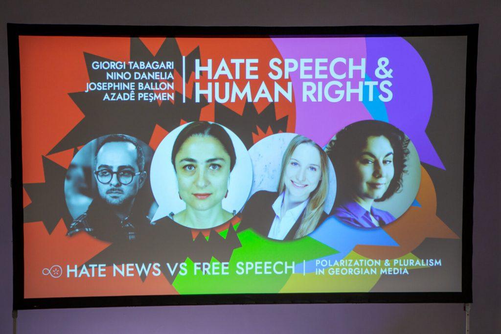 The poster of the final panel with Giorgi Tabagari, Nino Danelia, Josephine Ballon and Azadê Peşmen